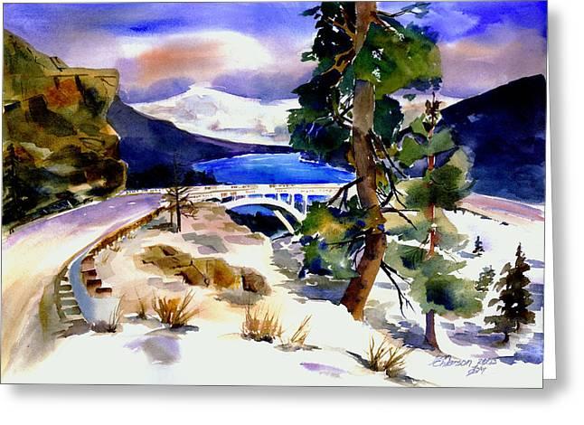 Rainbowbridge Above Donner Lake Greeting Card