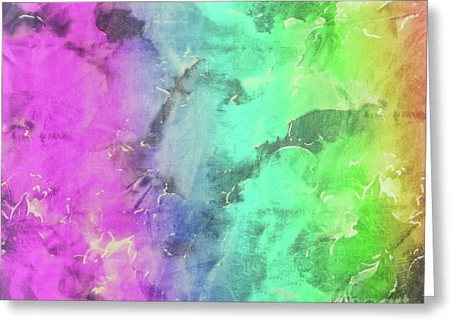 Rainbows And Tiedye Greeting Card