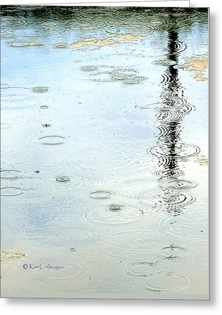 Raindrop Abstract Greeting Card