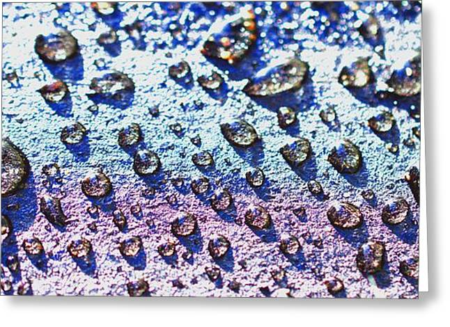 Raindrop Shingle Greeting Card by Aliceann Carlton