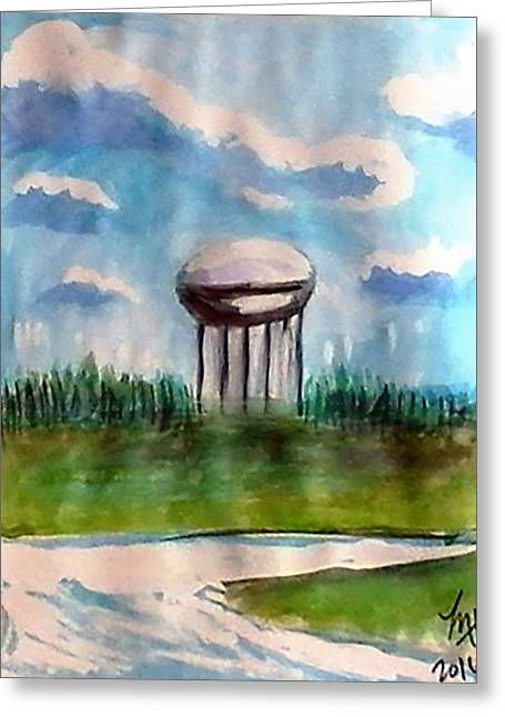 Raines Road Watertower Greeting Card