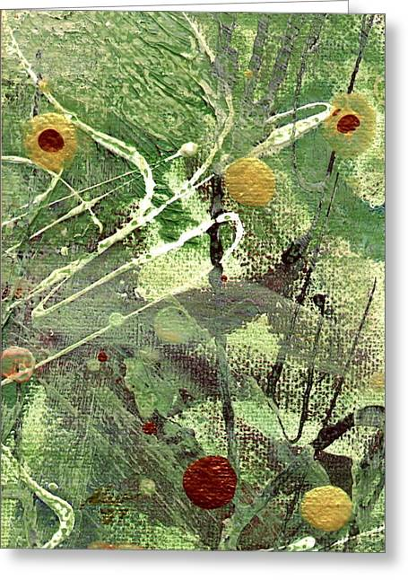 Greeting Card featuring the mixed media Rainforest by Angela L Walker