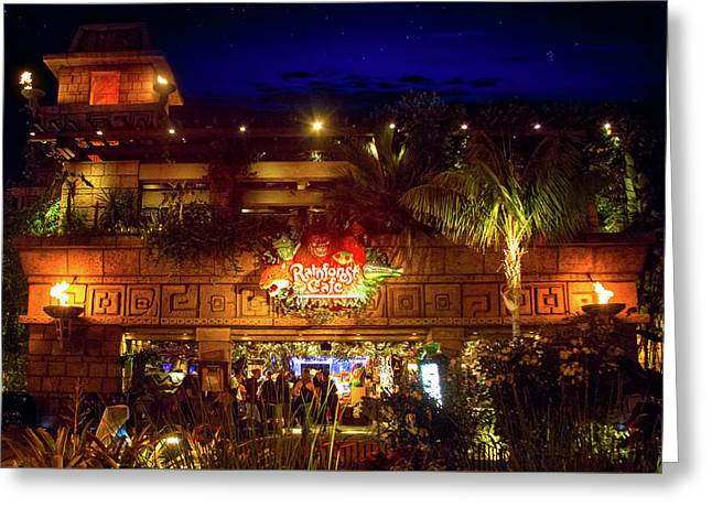 Rainforest Cafe Greeting Card by Mark Andrew Thomas
