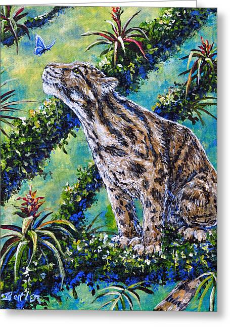 Rainforest Encounter Greeting Card by Gail Butler