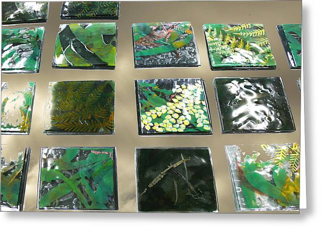 Rainforest Tile Prints Greeting Card by Sarah King