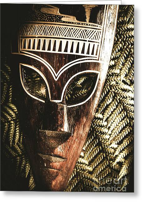 Rainforest Tribal Mask Greeting Card