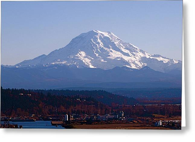 Greeting Card featuring the photograph Rainier 3 by Sean Griffin