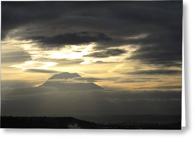 Greeting Card featuring the photograph Rainier 4 by Sean Griffin