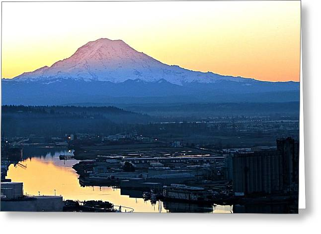 Greeting Card featuring the photograph Rainier 7 by Sean Griffin