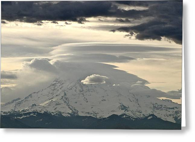 Greeting Card featuring the photograph Rainier 8 by Sean Griffin