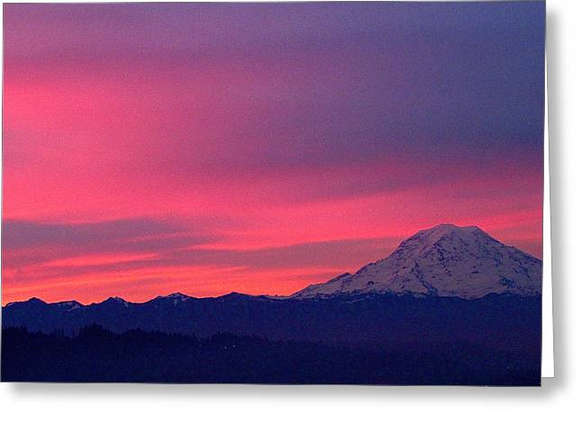 Greeting Card featuring the photograph Rainier 9 by Sean Griffin