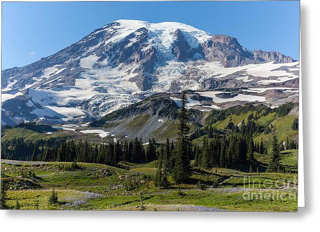 Rainier Mazama Ridge Greeting Card by Mike Reid