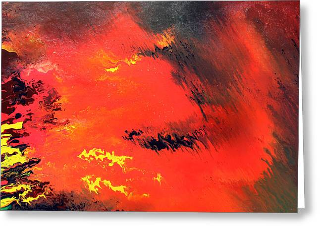 Raining Fire Greeting Card