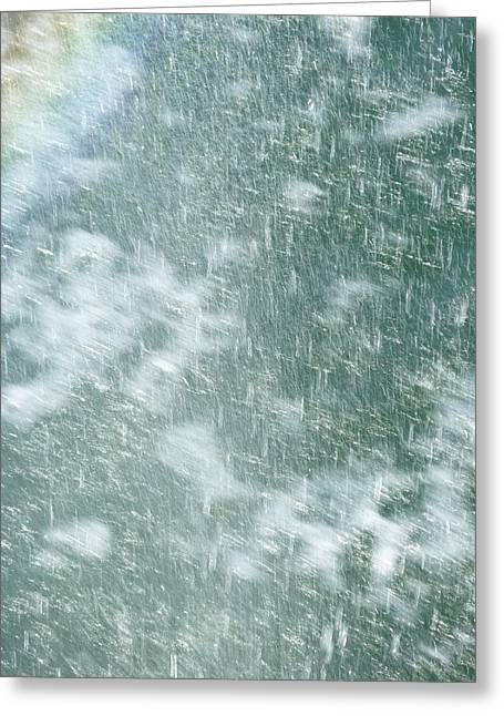 Raining In Abstract Greeting Card