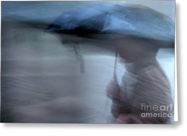 Raining In New Orleans Greeting Card by Kathleen K Parker