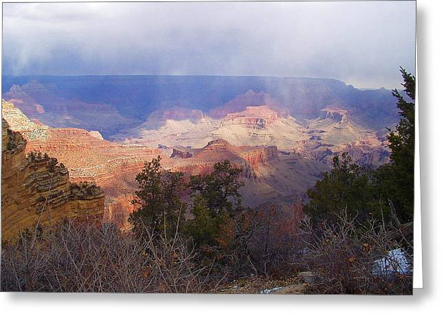 Raining In The Canyon Greeting Card by Marna Edwards Flavell
