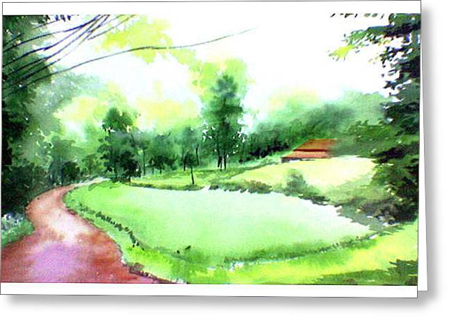Rains In West Greeting Card by Anil Nene