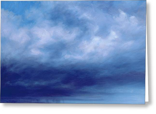 Rainstorm Off Holkham Beach  Greeting Card