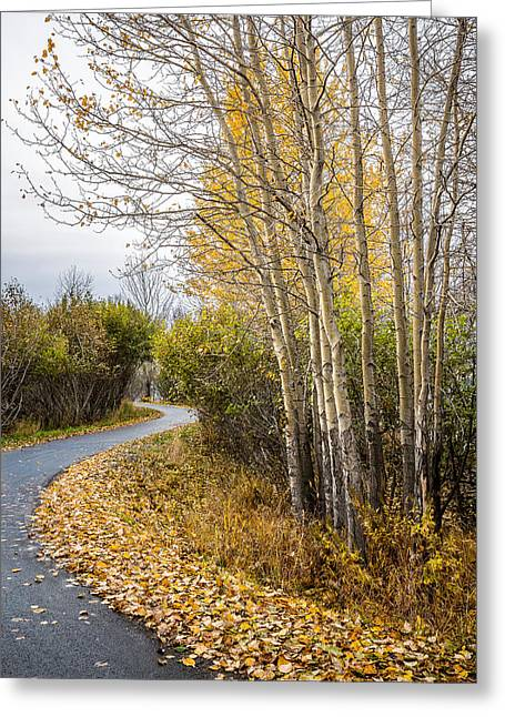 Rainy Autumn Walk Greeting Card