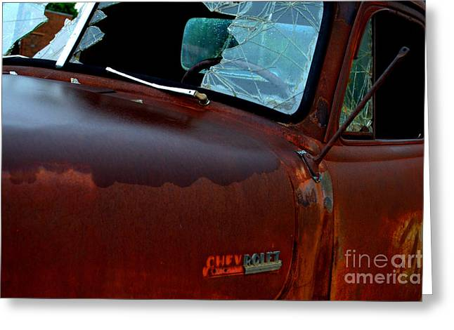 Rainy Day Chevrolet 4 Greeting Card