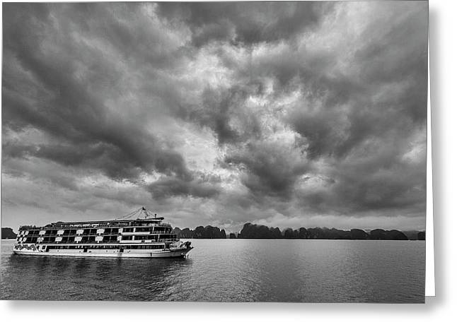 Greeting Card featuring the photograph Rainy Day Cruise by Hitendra SINKAR