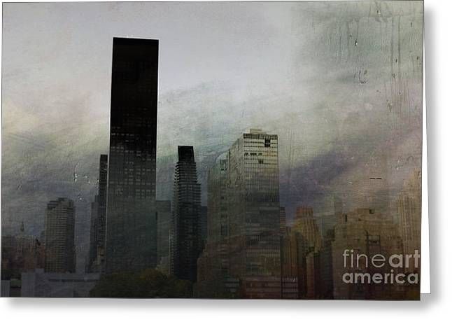 Rainy Day In Manhattan Greeting Card
