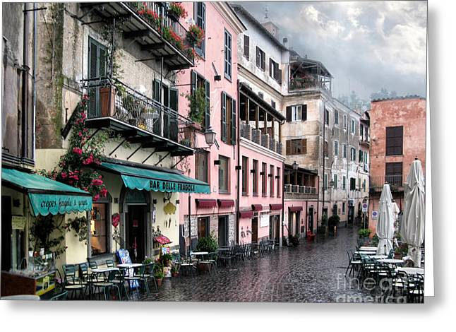 Rainy Day In Nemi. Italy Greeting Card