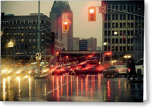 Rainy Day In Ottawa Greeting Card