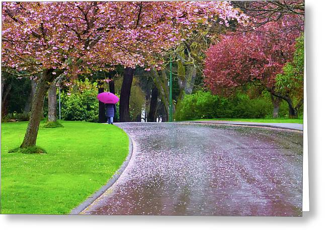 Rainy Day In The Park Greeting Card