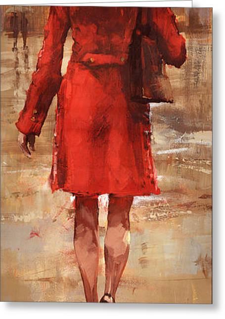 Rainy Day Greeting Card by Matthew Myles