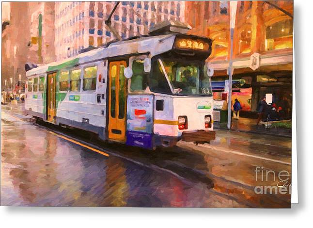 Rainy Day Melbourne Greeting Card