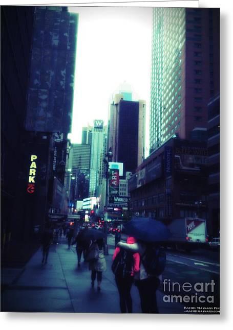 Greeting Card featuring the photograph Rainy Day New York City by Rachel Maynard