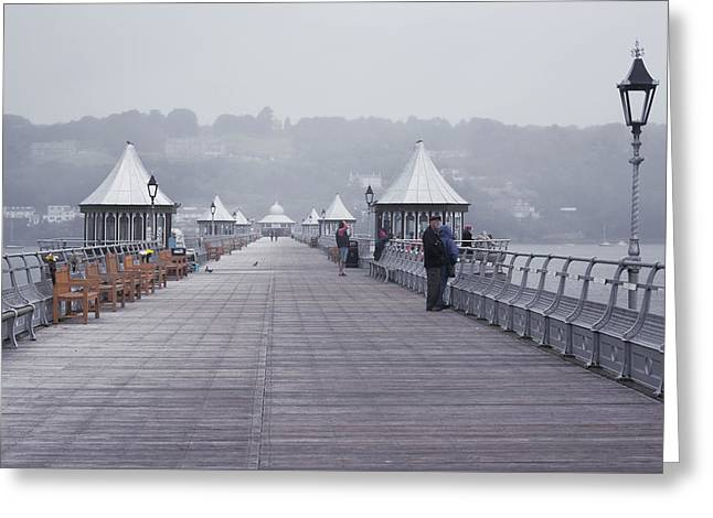 Rainy Day On A Pier Greeting Card