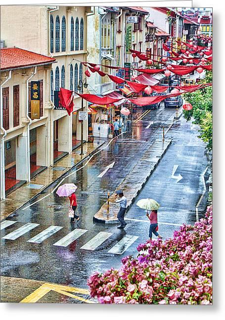 Rainy Day Singapore Greeting Card