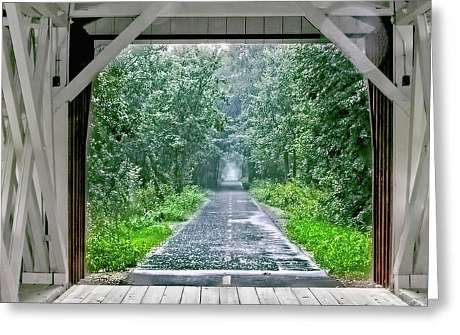 Rainy Day Greeting Card by William Sturgell