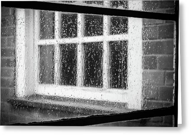 Rainy Day Window Greeting Card