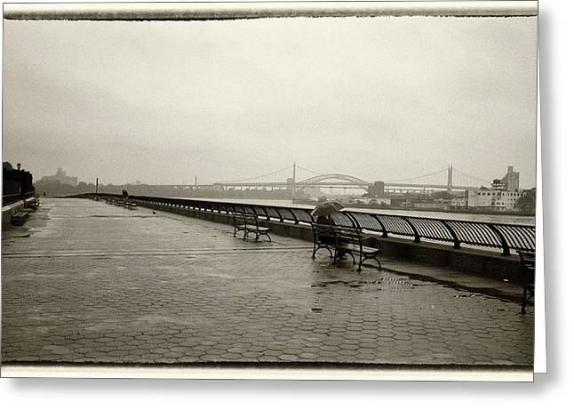 Greeting Card featuring the photograph Rainy Days Sepia by Dave Beckerman