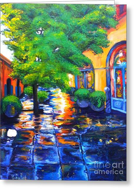 Rainy Dutch Alley Greeting Card
