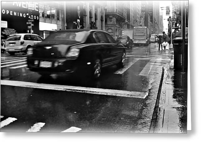 Greeting Card featuring the photograph Rainy New York Day by Vannetta Ferguson