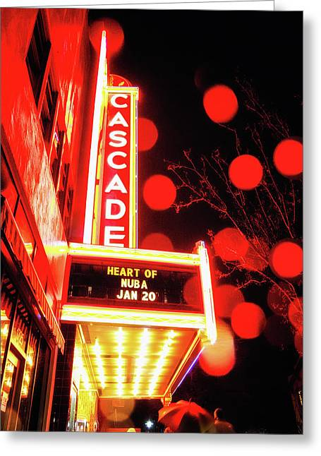 Rainy Night At The Theatre Greeting Card