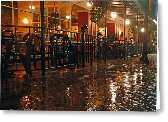 Rainy Night In Gainesville Greeting Card