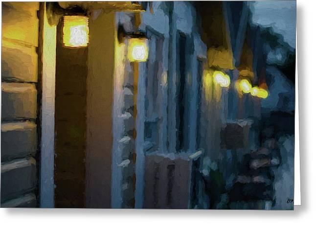 Rainy Night Motel II Greeting Card by David Gordon