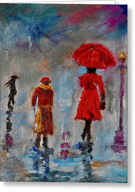 Rainy Spring Day Greeting Card by Sher Nasser
