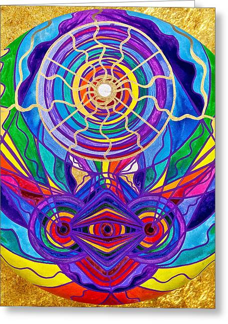 Raise Your Vibration Greeting Card