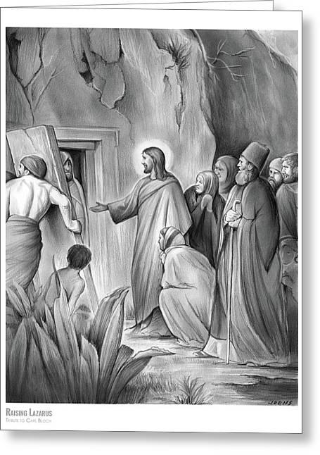 Raising Lazarus Greeting Card
