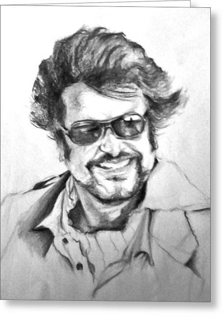 Ilendra Vyas Greeting Cards - Rajnikanth Greeting Card by ilendra Vyas