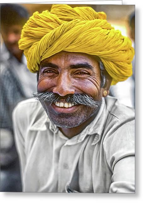 Rajput High School Teacher Greeting Card by Steve Harrington