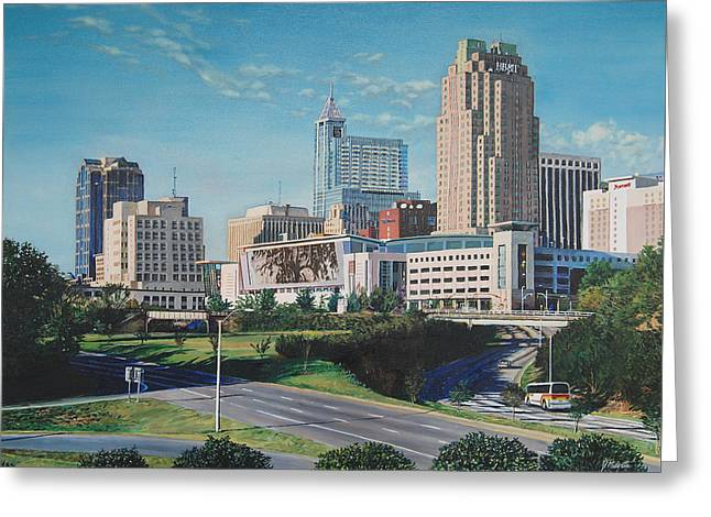 Raleigh Downtown Realistic Greeting Card