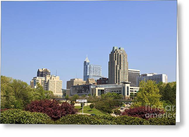 Raleigh North Carolina Greeting Card by Jill Lang