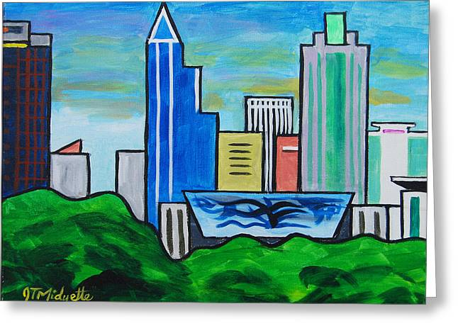 Raleigh Skyline 3 Greeting Card